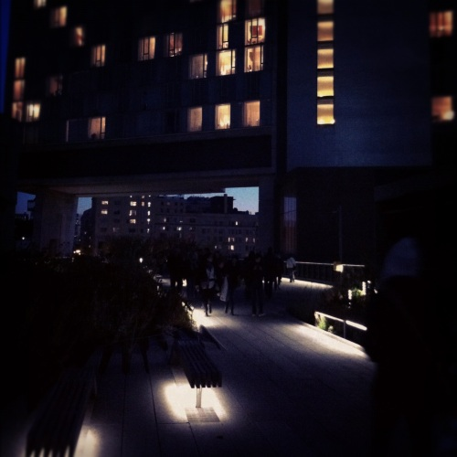 The High Line - at the Standard Hotel by Night - © Annie Michaud
